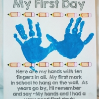 toddler school | first day craft