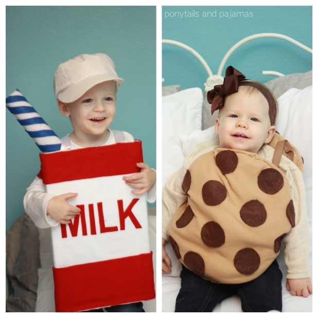Milk and Cookies Siblings Costumes | ponytailsandpajamas.com