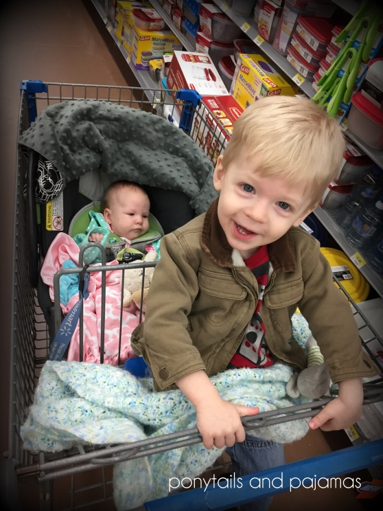 Shopping with Two in Tow